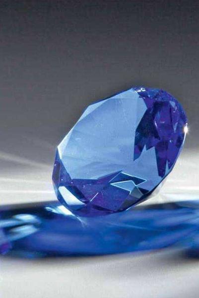 Glasdiamant Blau gravierfähig