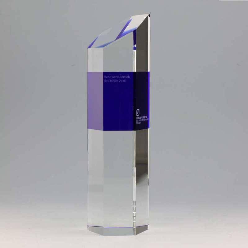 Massiver Kristallglas-Award von Hand geschliffen und poliert
