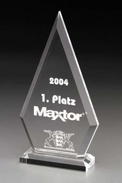 Clipped Pyramid Acrylglas Award