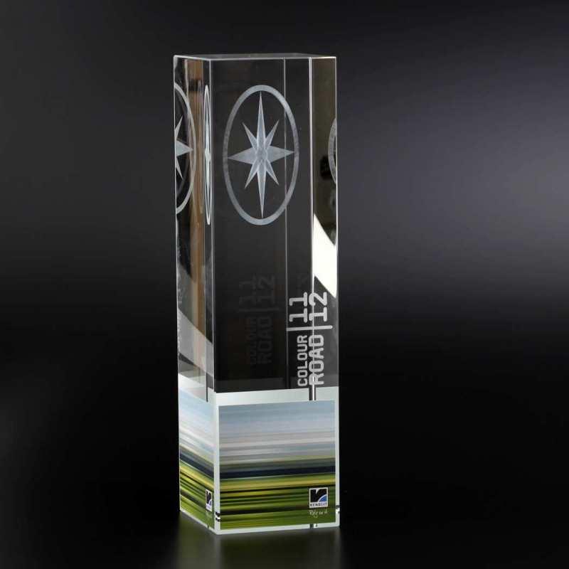 Cubix aus Kristallglas mit Innengravur