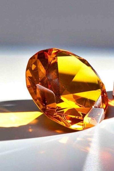 Glasdiamant Amber gravierfähig