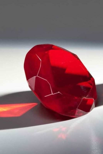 Glasdiamant in Rot