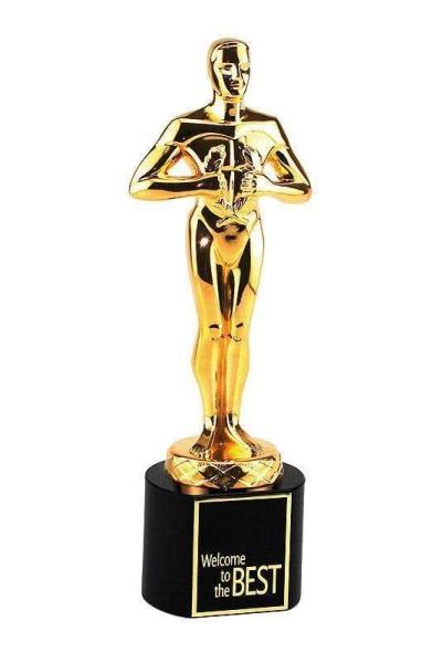 Classic Achievement Award Black Crystal goldfarbig